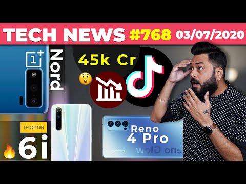OnePlus Nord Real Image, TikTok Ka 45k Cr Nuksaan 😲 , Realme 6i, Reno 4 Pro, Redmi K30 Ultra-#TTN768