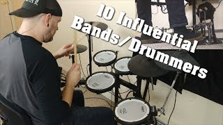10 Influential Bands/Drummers Medley