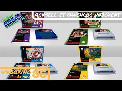 [Unboxing #035] 4 nouveaux jeux Super Nintendo (Iron Commando, Jim Power, etc...) !