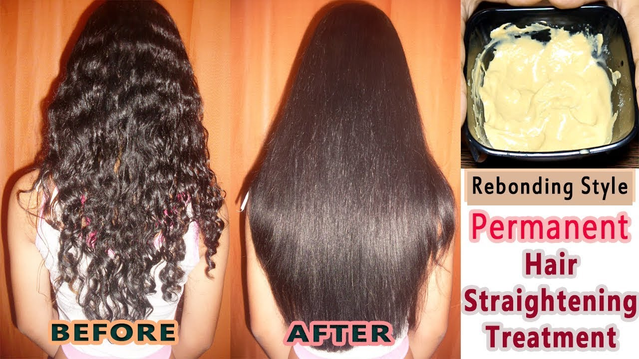 Straight permanent hair - Permanent Hair Straightening At Home Re Bonding Style Straight Hair At Home Naturally Silk Shine