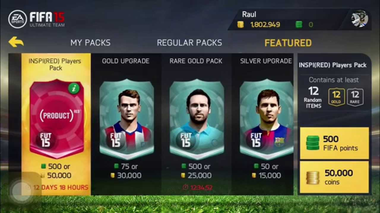 Fifa 15 red player pack opening youtube