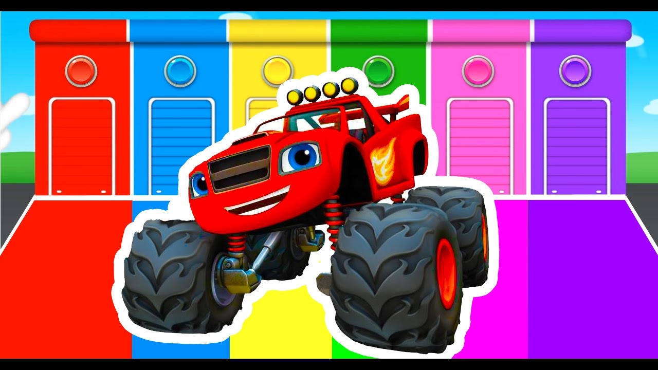Learning Colors With Monster Truck Color Vehicles For Kids Toddlers Learn Colours For Children Youtube