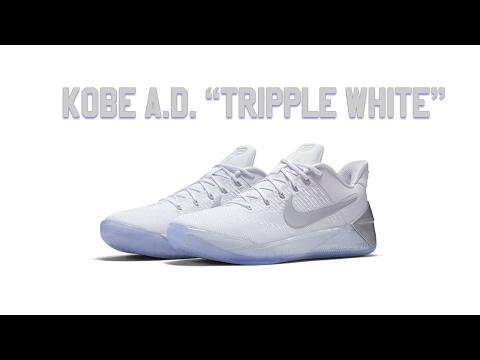 """Nike Kobe A.D. """"Tripple White"""" review"""
