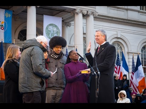 Mayor de Blasio Attends 2018 Inaugural Ceremony