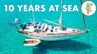 Living On A Self-sufficient Sailboat For 10 Years + Full Tour