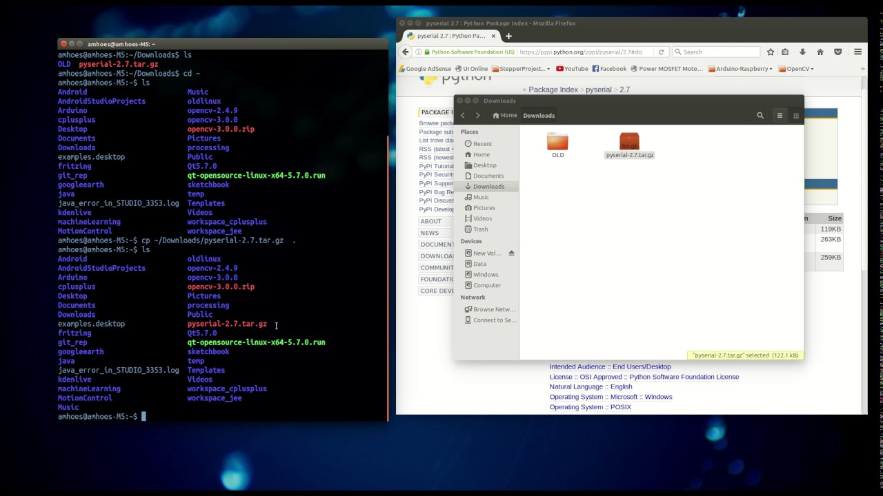 How to install pyserial on Linux - Ubuntu