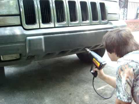 how to restore car vehicle faded plastic trim using a heat gun fix funnycat tv. Black Bedroom Furniture Sets. Home Design Ideas