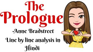 The Prologue by Anne Bradstreet Summary in Hindi