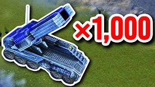 1,000 Mobile Missile Launchers = BIG MEMES | Supreme Commander Forged Alliance Gameplay