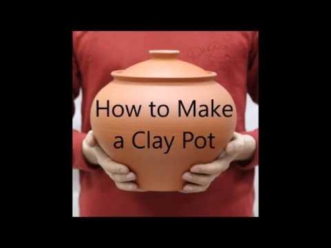 How to Make a Clay Pot. DIY. Timelapse (Как сделать глиняный горшок своими руками)