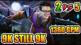 Miracle- Dota 2 7.00 - 2 Vs 5 - 1360 GPM - NOTHING Changes