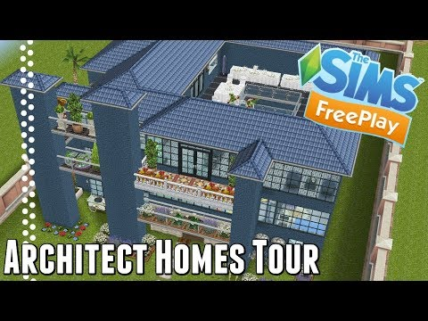 Sims Freeplay| Architect Homes Tour | March 2018