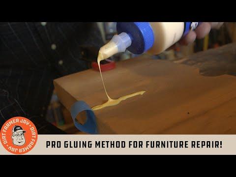 Pro Gluing Method For Furniture Repair!