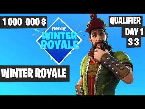 Fortnite Winter Royale Qualifier Day 1 Highlights (Session 3) [Fortnite Tournament 2018]