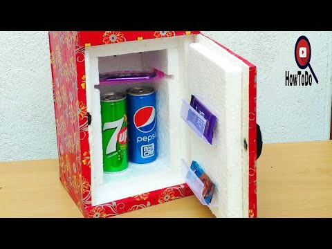 How to make a Mini Refrigerator(Low cost DIY)By HowToDo