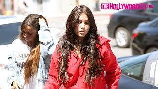 Madison Beer & Claudia Tihan Stop By Organic Shimmer Tan Salon On Melrose Ave. 4.12.17