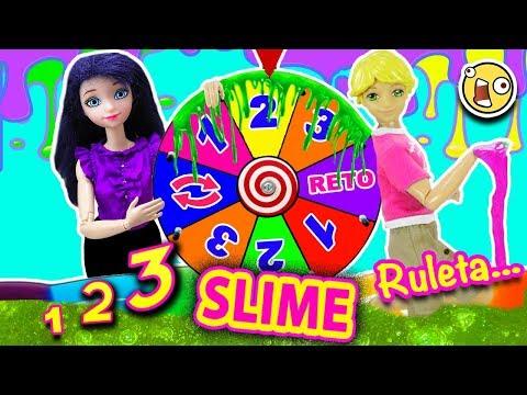 Ruleta de 1 2 3 Slime con Marinette y Adrien y sorpresas LOL