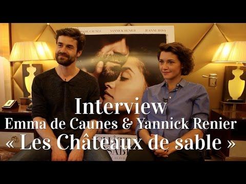 Interview vidéo d'Emma De Caunes et Yannick Renier - acteurs des « Châteaux de sable » thumbnail