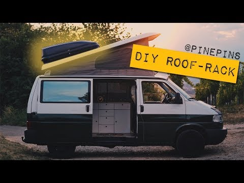 DIY ROOF RACK VW T4 pop top