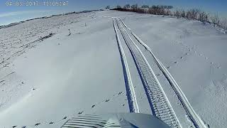 Snowmobile go pro vid