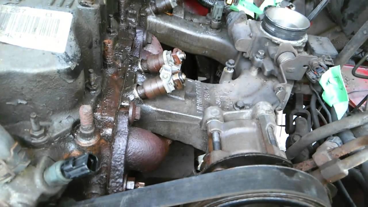 small resolution of 98 jeep tj wrangler 2 5l exhaust manifold installa