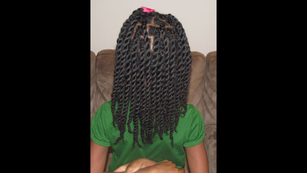 hair twists rope natural