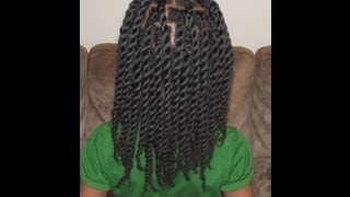 Hair Twists/Rope Twists on Natural Hair (Without Hair Bands)