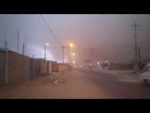 Fuertes Vientos con arena y lluvia sorprenden a Tacna 2