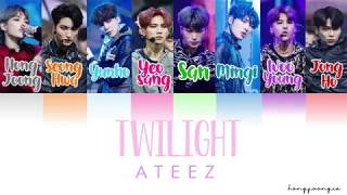 Ateez  에이티즈 - Twilight  Color Coded Han/rom/eng