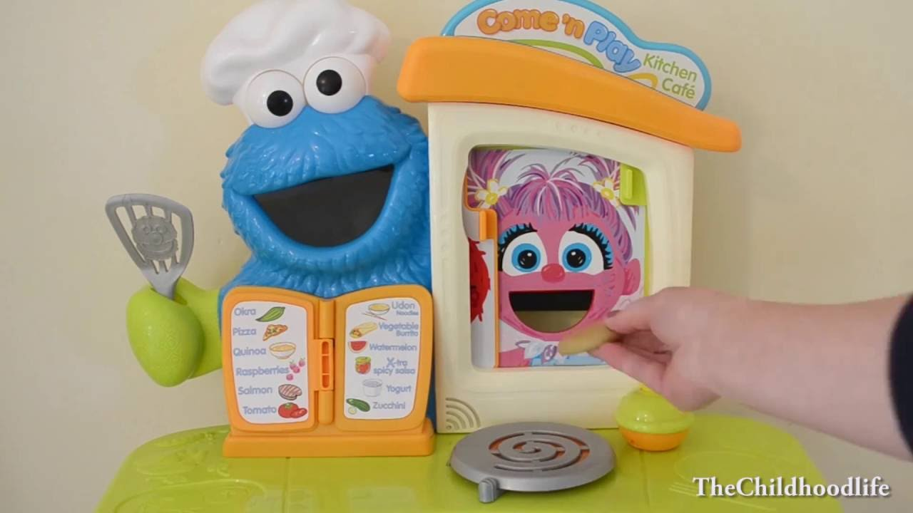 sesame street cookie monster kitchen cafe - youtube