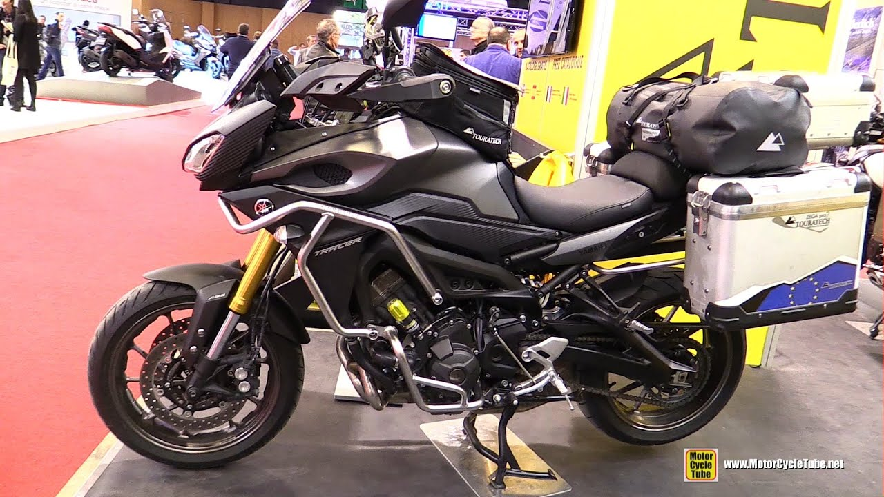 2016 yamaha mt09 tracer customized by touratech walkaround 2015 salon de la moto paris youtube. Black Bedroom Furniture Sets. Home Design Ideas