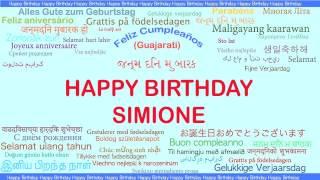 Simione   Languages Idiomas - Happy Birthday