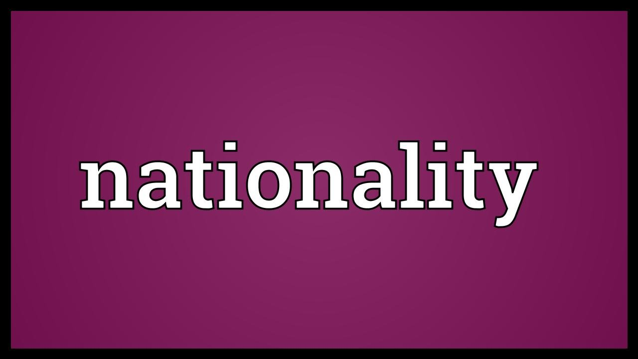 Nationality Meaning