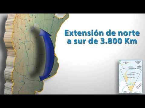 El mapa de la República Argentina