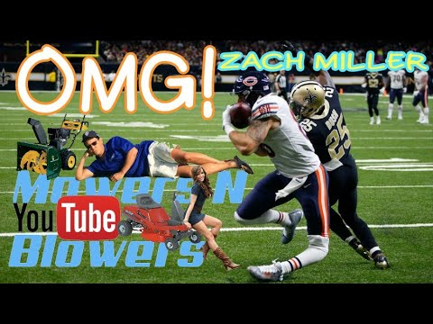 CHICAGO BEARS VS. NEW ORLEANS SAINTS TIGHT END ZACH MILLER GRUESOME SEVERE KNEE DISLOCATION ACL