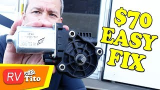 Repair STUCK RV Step - Kwikee Motor Replacement