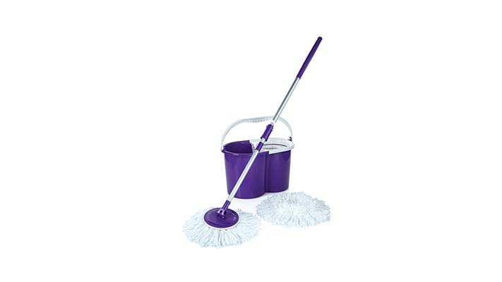 Hurricane Pressto Spin Mop With 2 Mop Heads And Bucket
