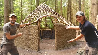Earth Walls! Woodland Bushcraft Project with TA OUTDOORS using basic hand tools - Roundhouse Ep.7