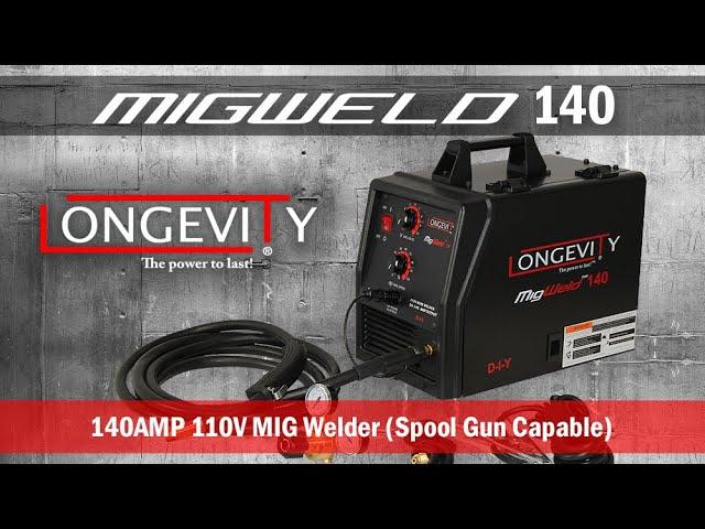 Longevity MIGWELD 140 Welder SPOOLGUN 140 Combo