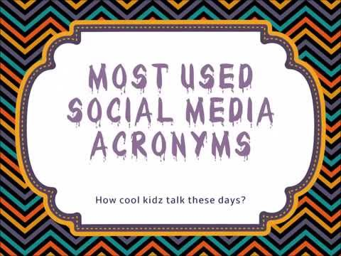 46 Acronyms That Used Very Often In Social Media