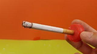 Experiment  - Wie viel Dreck steckt in einer Zigarette?
