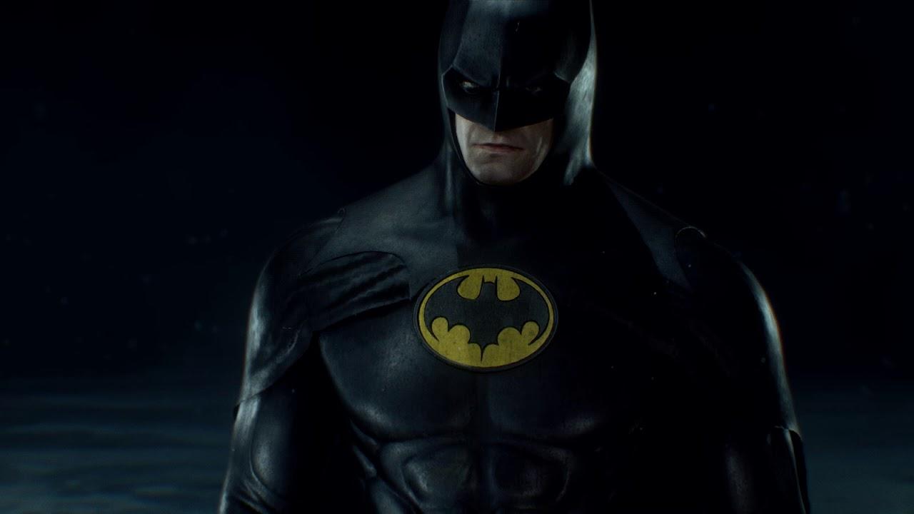 Batman Arkham Knight Batman 1989 Michael Keaton Costume & Batman Arkham Knight Batman 1989 Michael Keaton Costume - YouTube