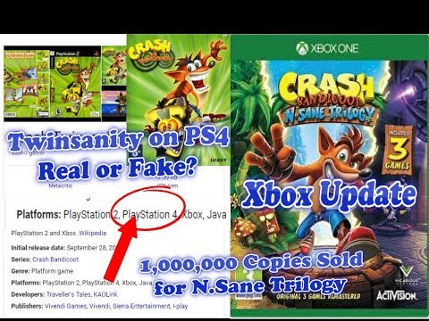 Crash Xbox Update | Crash Twinsanity On PS4 Update | 1,000,000