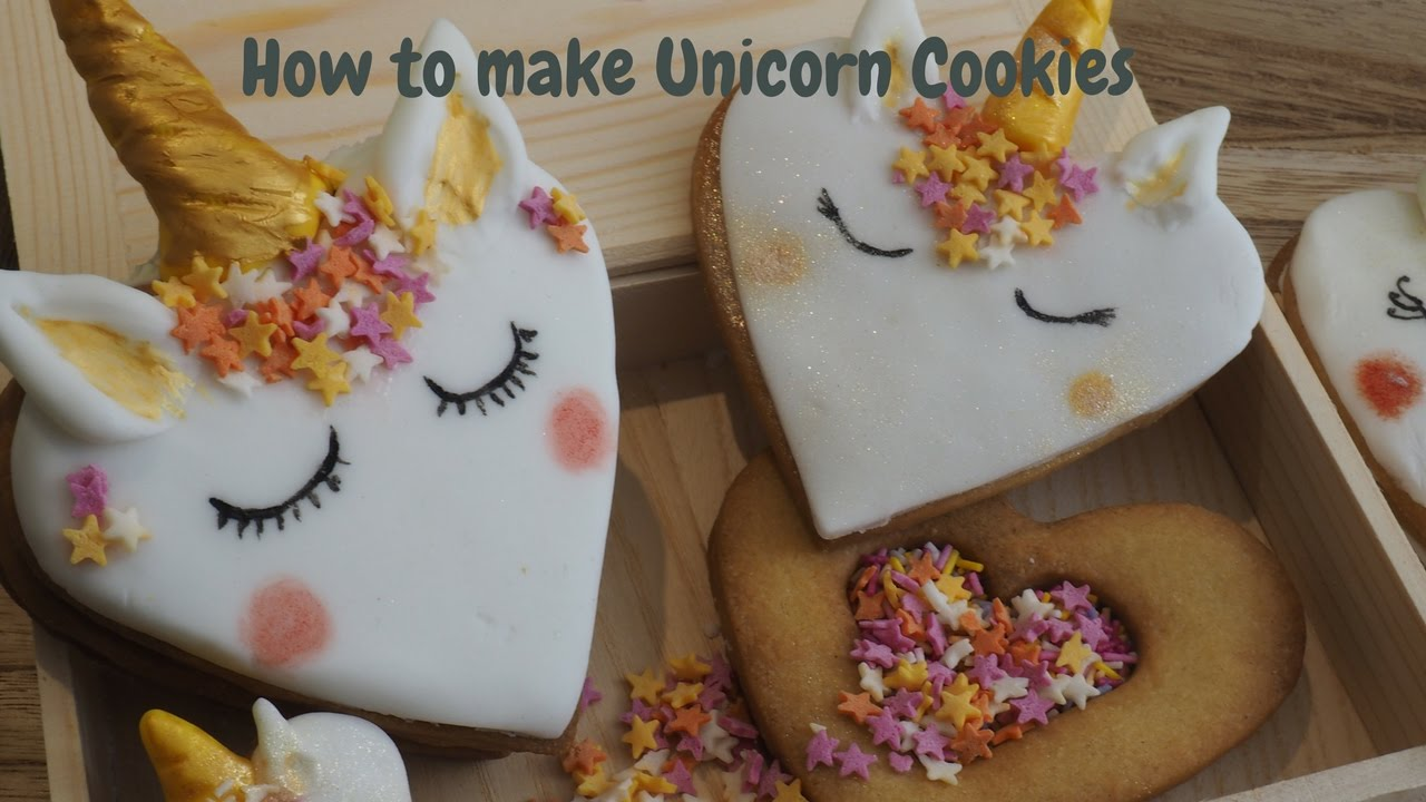 How to make a unicorn cookie  YouTube