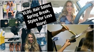 RANDOM VLOG! || My Hair Salon, Spring Break, Photos of Me in a Store??