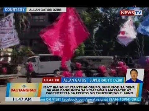 BT: Iba't ibang militanteng grupo, sumugod sa DENR bilang paggunita sa Kidapawan massacre...