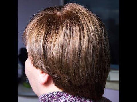 Стрижка по типу Сессон (Sassoon) на коротких волосах .Подробно техника