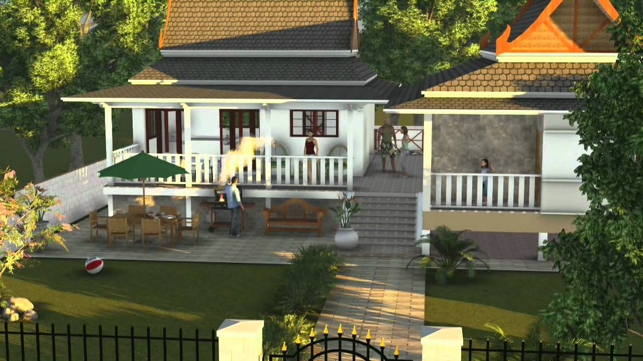Thai house design ideas youtube for Thai classic house