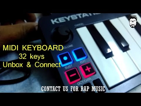 Mini Midi Keyboard 32 Keys | Unbox & Connect | M AUDIO Keystation 32 Keys |