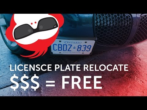 DIY : Licensce plate relocate install + paint front grill black – Pontiac Solstice Build Part 1
